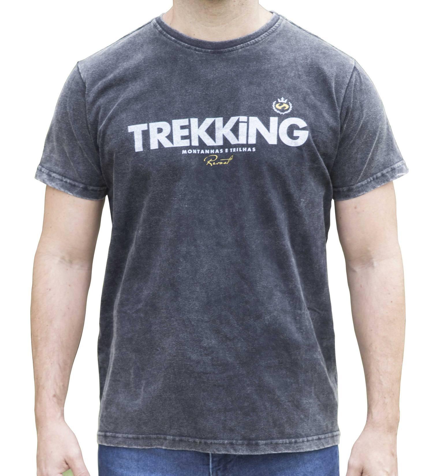Camiseta Masculina Revost Estonada - Preto