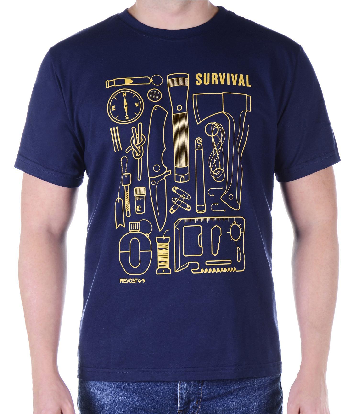 Camiseta Masculina Revost Survival - Marinho