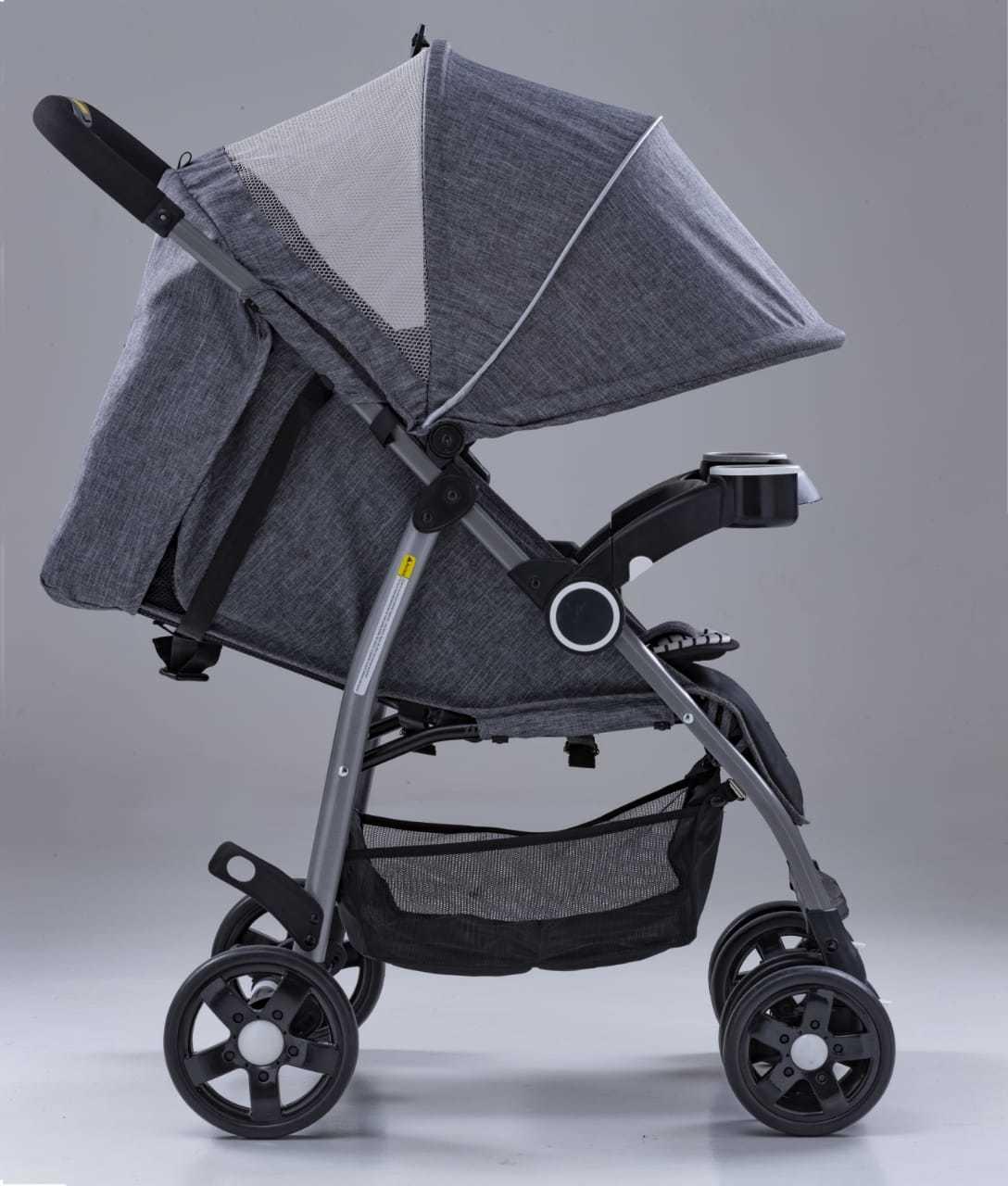 Carrinho de Bebê Modelo G6 Cinza Kangalup