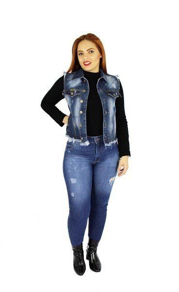 Colete Dinho's Jeans Pátria Desfiado