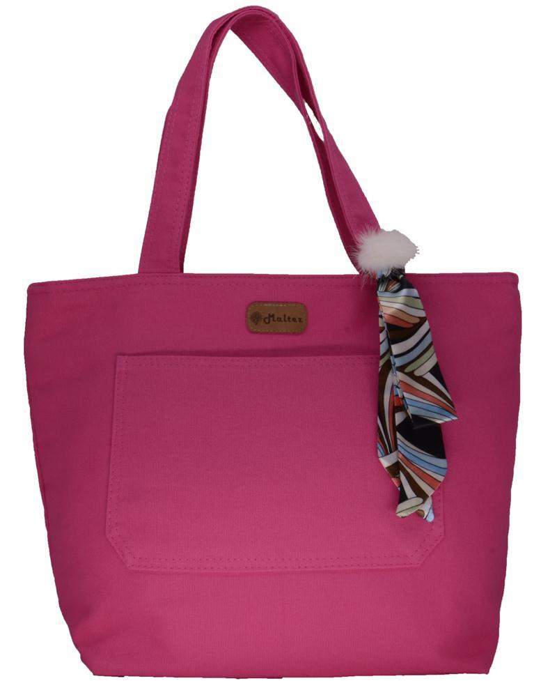Bolsa Lulu Pink com Lenço-pompom - Fábio Maltez
