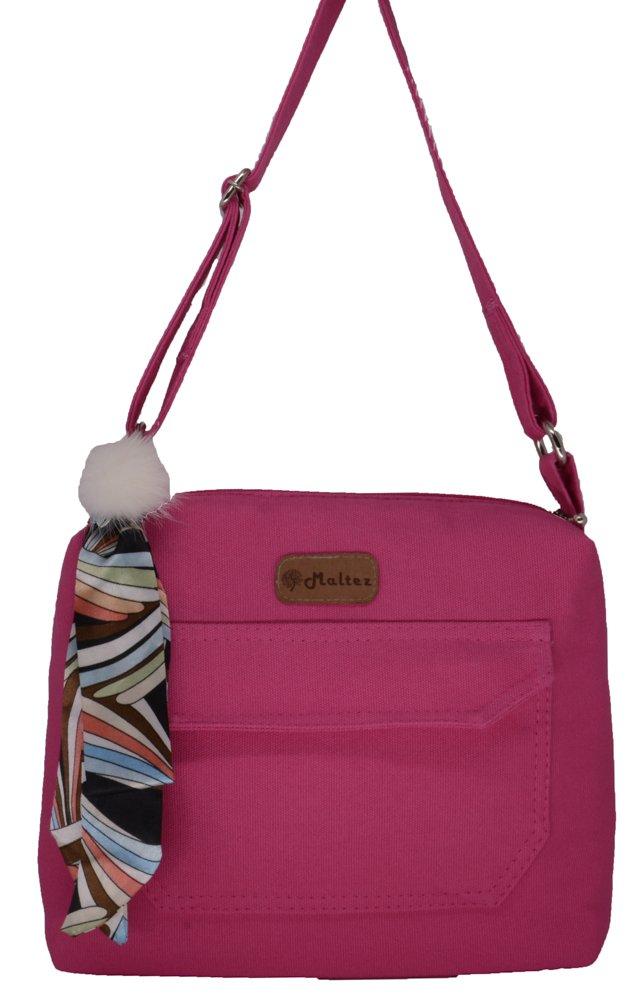 Bolsa Tereza Pink com Lenço-pompom - Fábio Maltez