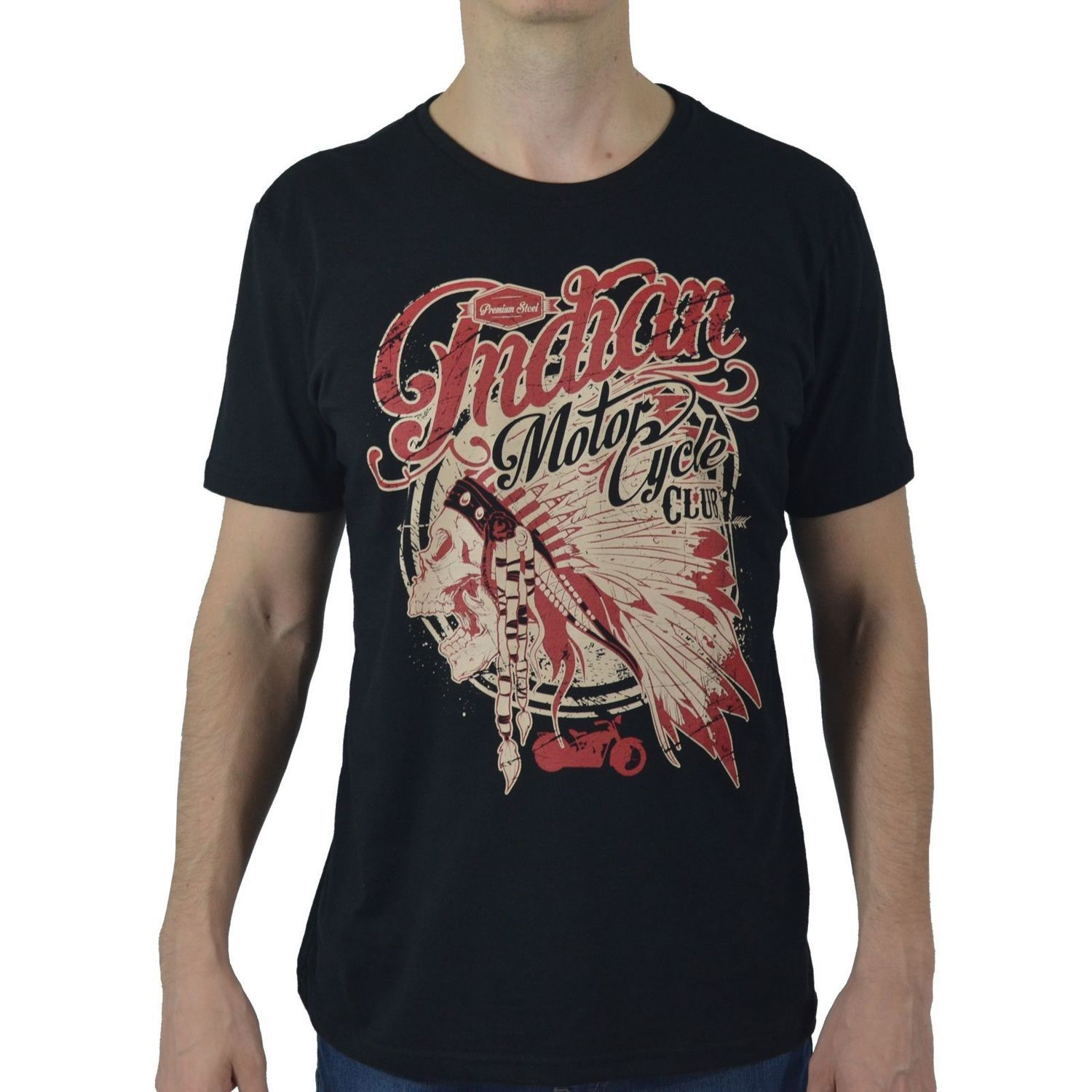 Camiseta Masculina Fallon & Co. Indian Motorcycle Club Preta