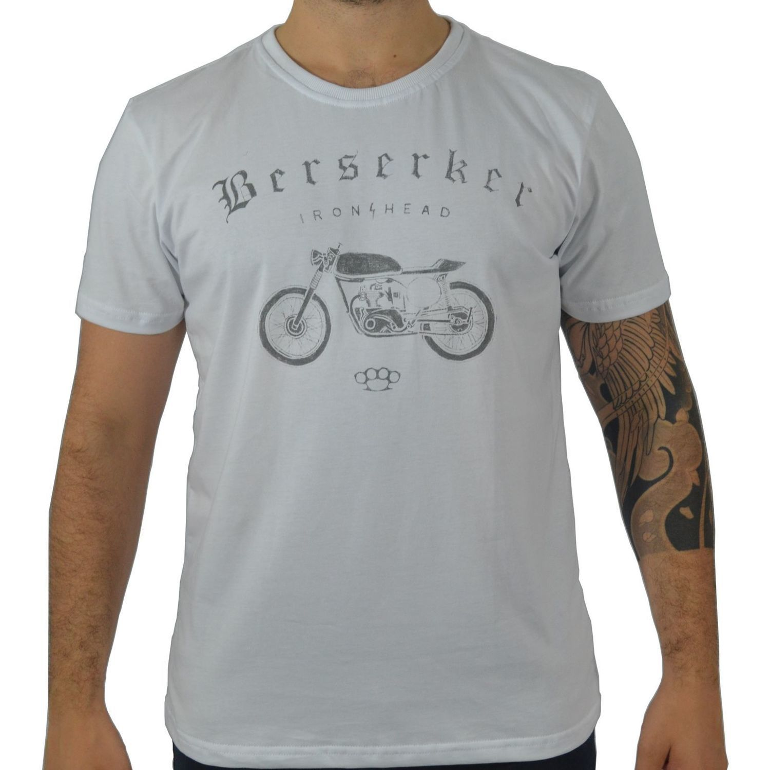 Camiseta Masculina Fallon & Co. Iron Head Branca
