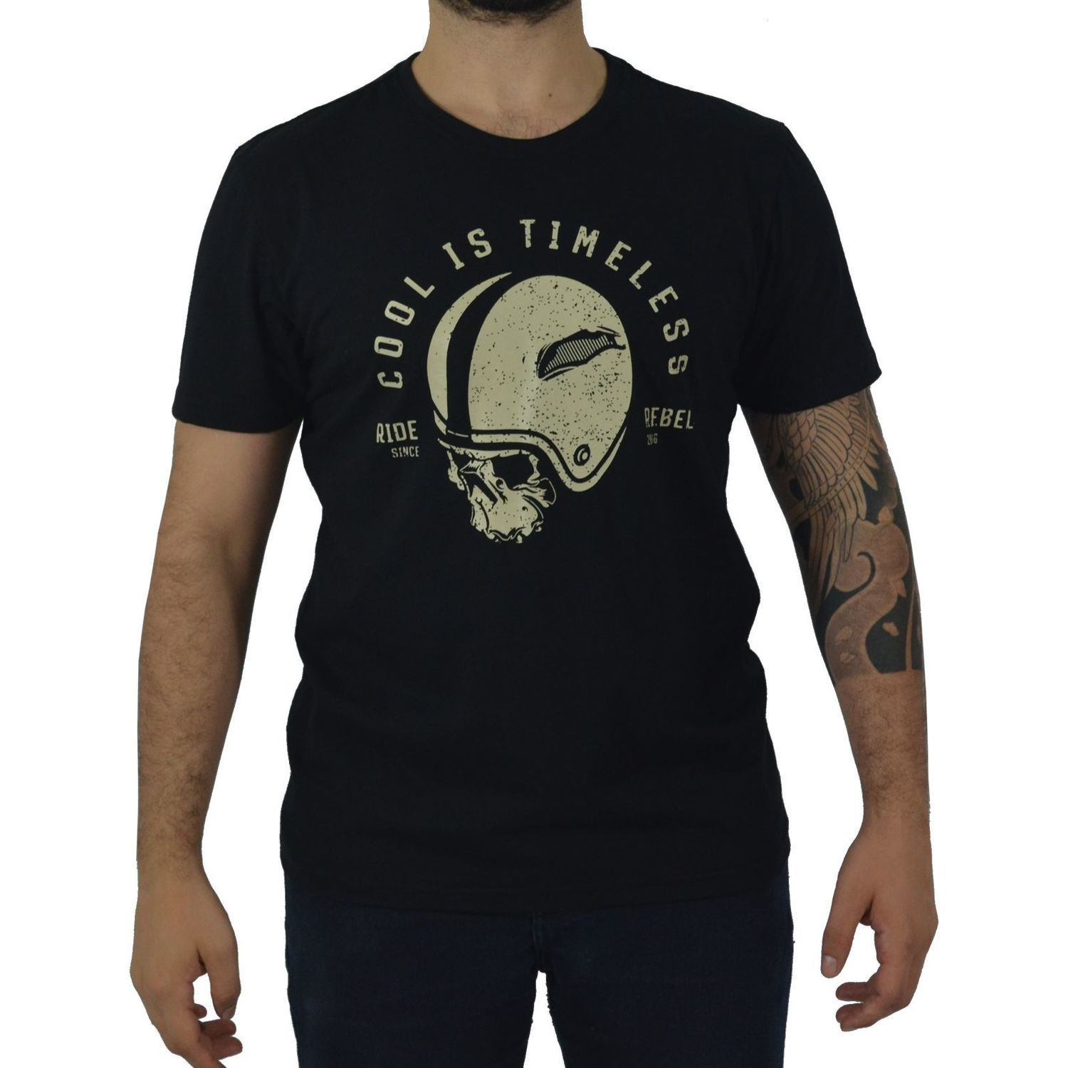 Camiseta Masculina Fallon & Co. Ride Rebel Preta