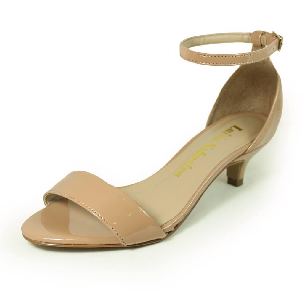 Sandália Salto Fino Luiza Sobreira Verniz Nude Mod. 4068