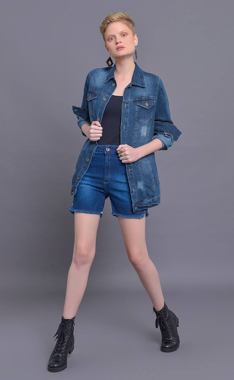Jaqueta Dinho's Jeans Max com Aplicacão (2504)