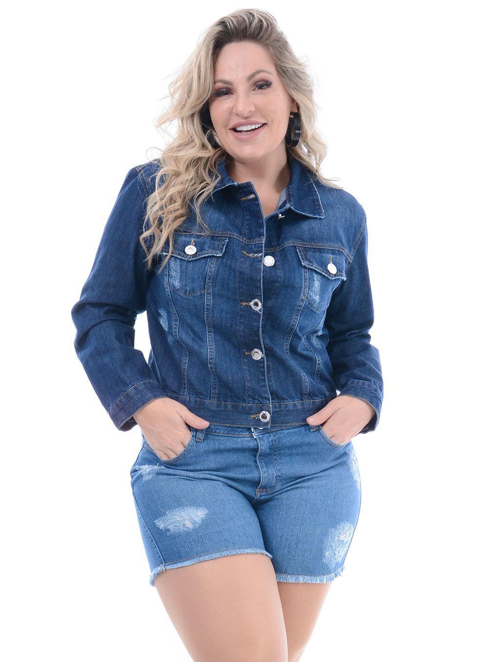 Jaqueta Jeans Attribute Escura