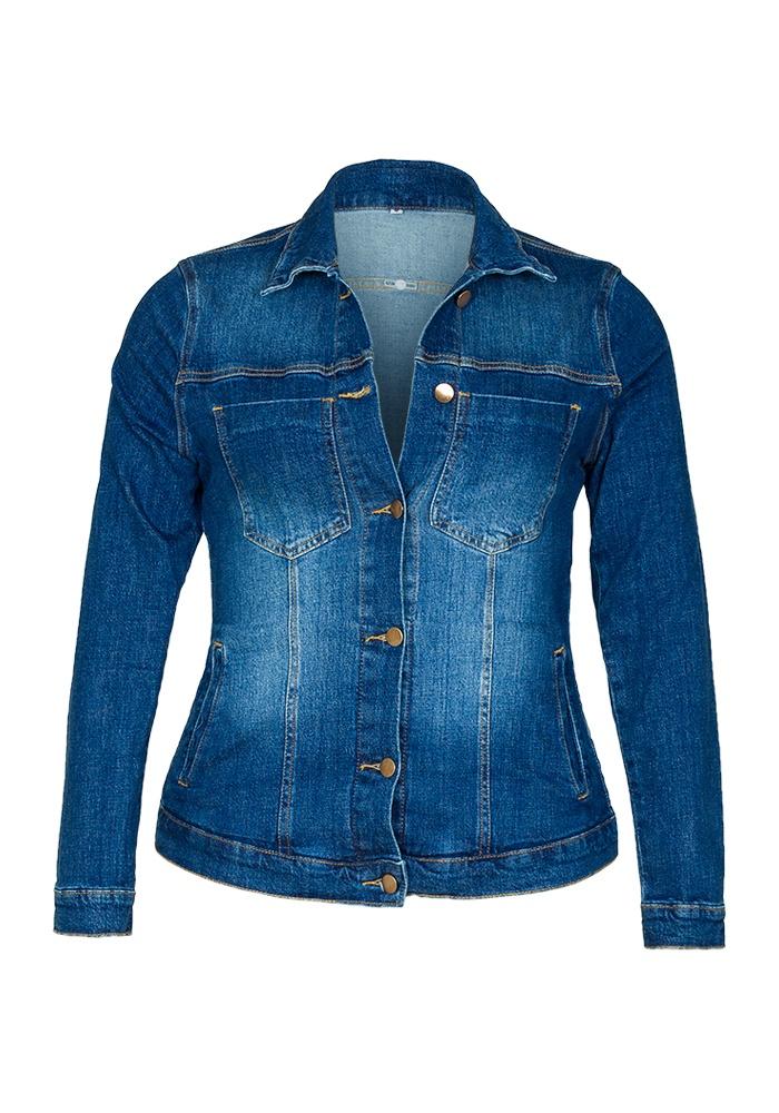 Jaqueta Jeans Feminina Fact Jeans ref. 03552