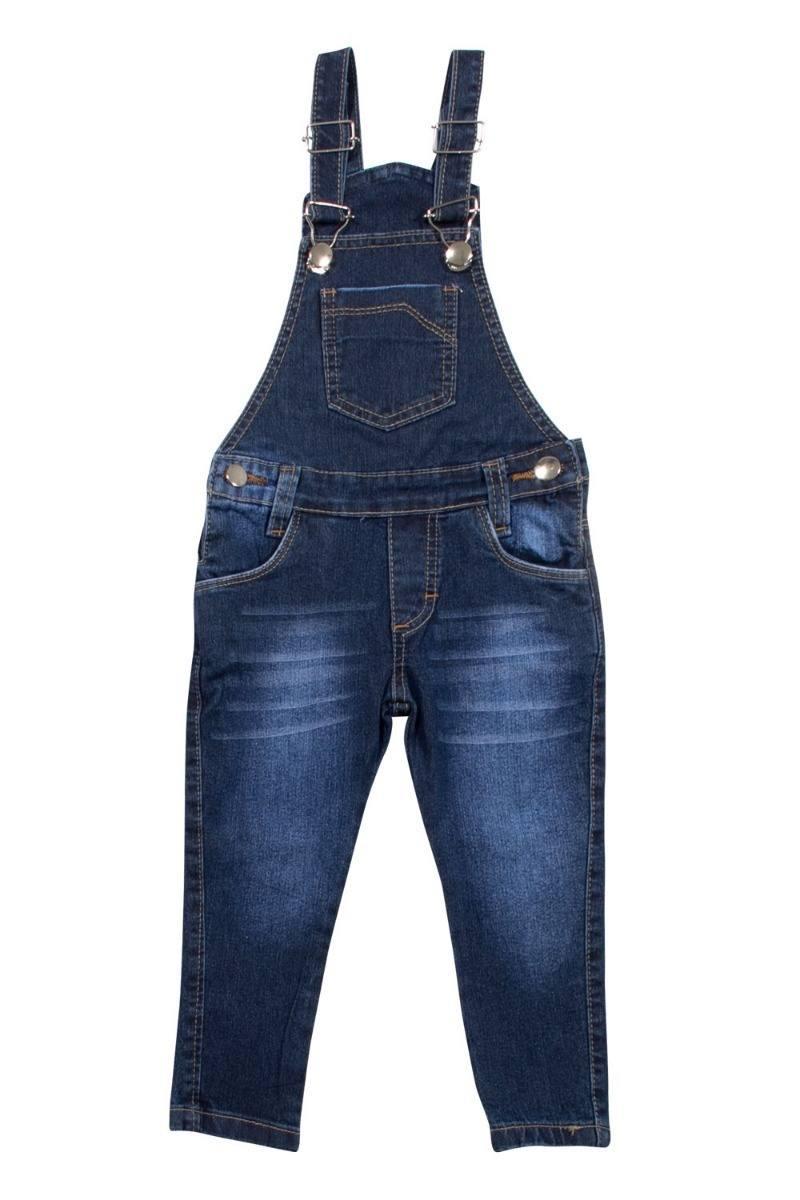 Jardineira / Macacão Calça Jeans para Bebês Meninos Tamanhos 01, 02 e 03 [Ref 1105]