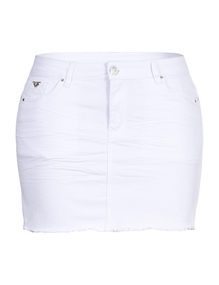 Mini Saia Sarja Fact Jeans - Plus Size Ref. 04076