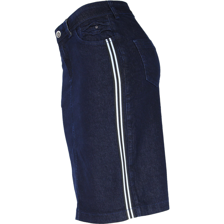Saia Evangélica Eruption Jeans Faixa Lateral [7169AM]