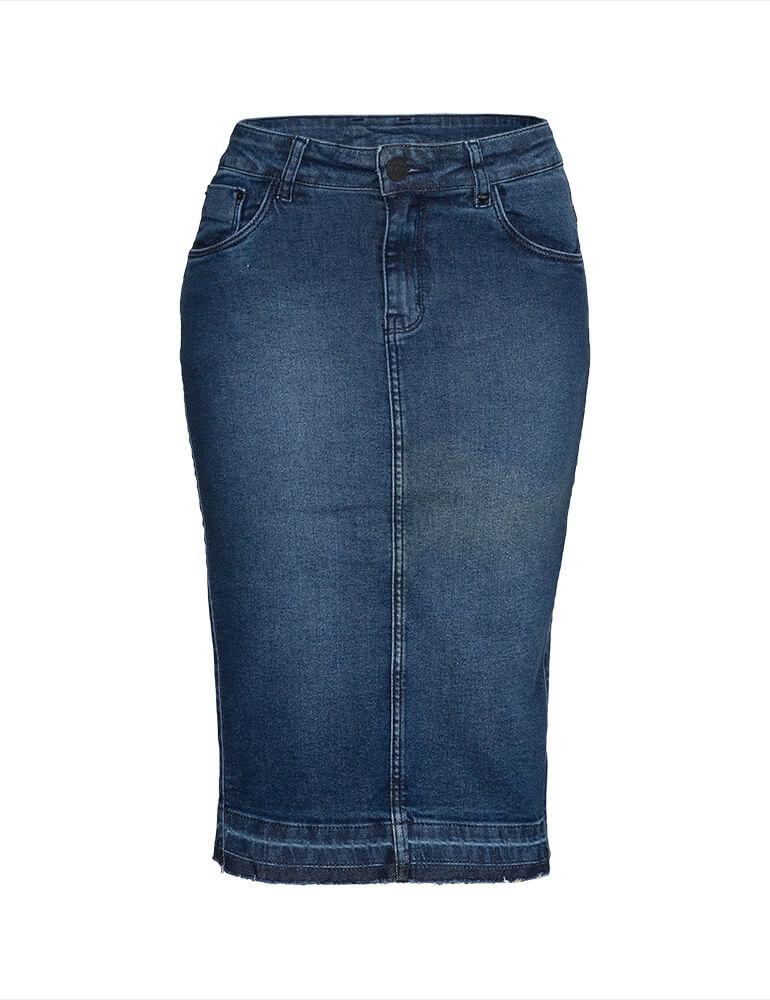 Saia Jeans Feminina Fact Jeans ref. 03963