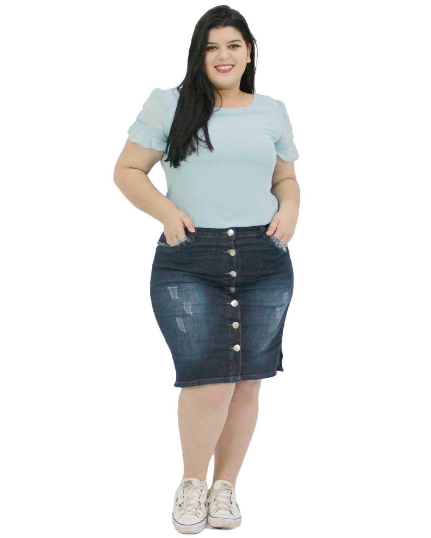 Saia Jeans Rafaela Plus Size