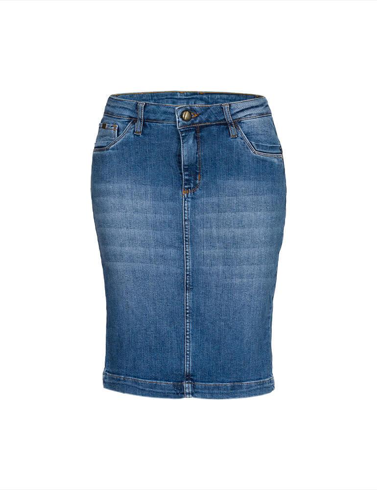Saia Jeans Secretária Feminina Fact Jeans ref. 03718
