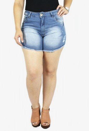 Shorts Dinho's Jeans Feminino Meia Coxa Cecília Delavê ref. 2481
