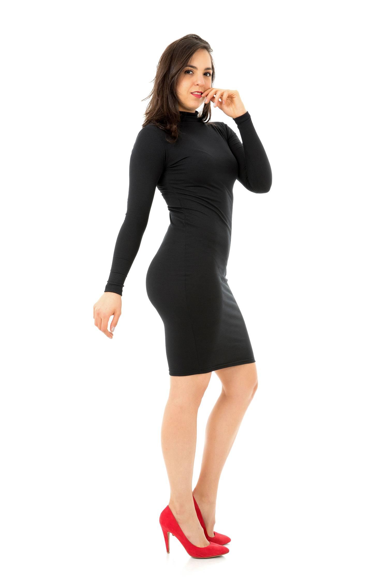 Vestido Canelado Midi M/L