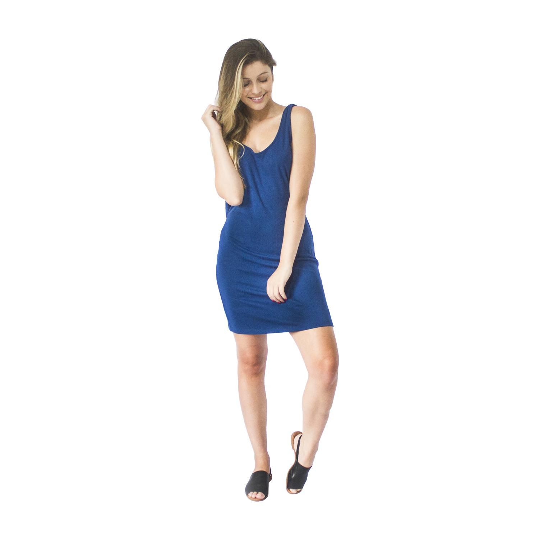 Vestido Cedro Azul Bluni