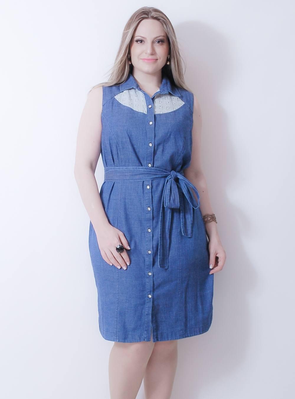Vestido em Jeans Nicky Hilton ref. EP251524