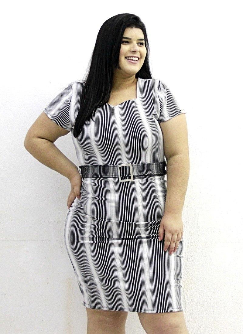 Vestido Jacquard Simone Plus Size