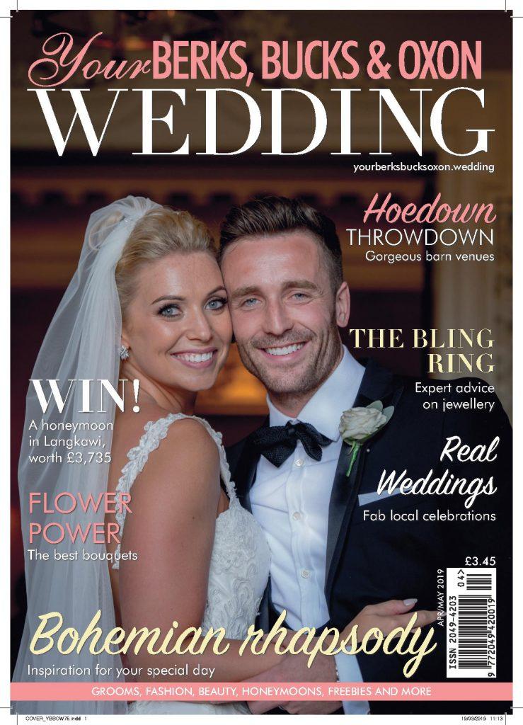 Wendy Aldiss front page Your Berks Bucks & Oxon wedding magazine April/May 2019
