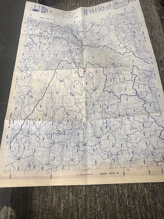 main photo of Blue and White Map of Minnesota