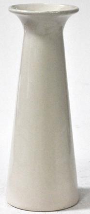 main photo of Vase Ceramic Off White Glossy