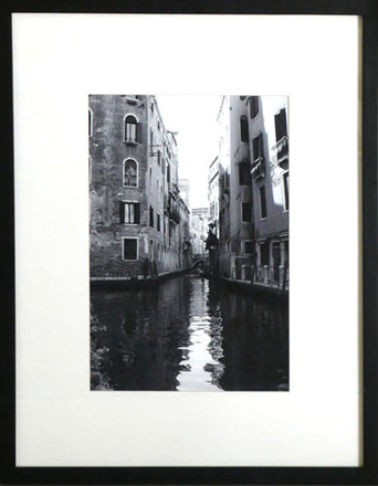 main photo of Canal Between Buildings, White Mat