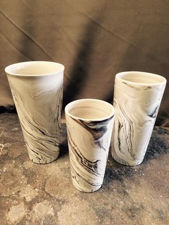main photo of Black and white swirl ceramic