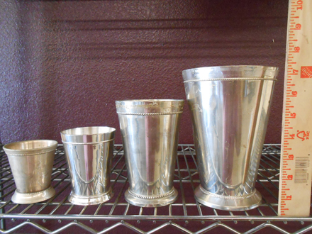 main photo of Silver mint julip cups