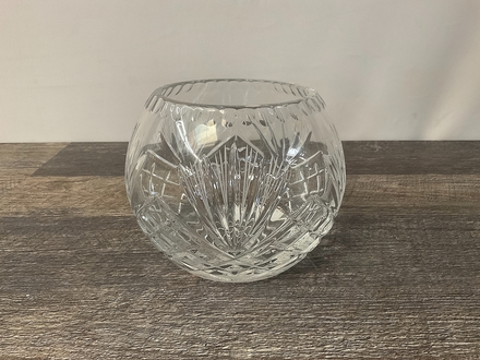 main photo of Cut Crystal Round Vase A