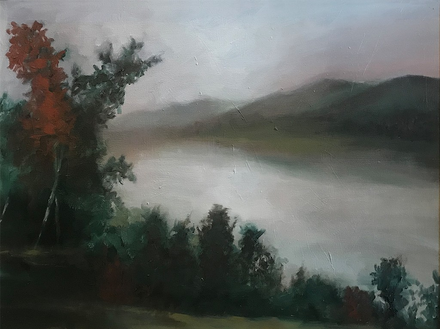 """main photo of PERWIL-River Late Afternoon 30X40"""""""