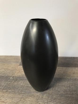 main photo of Matte Black Oval Vase