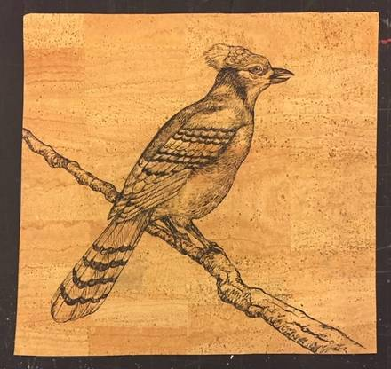 main photo of Bird on a Branch Painting