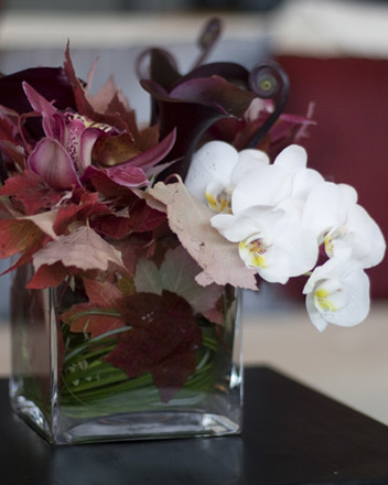 main photo of Fresh Floral Purple and White with Fall Foliage