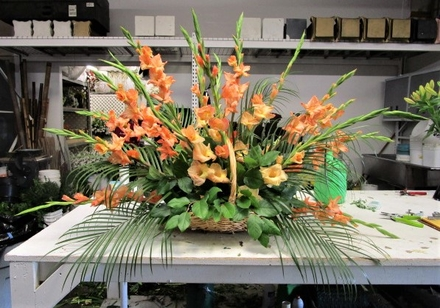 main photo of Fresh Floral Vintage Style Funeral Arrangement