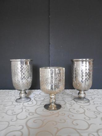 main photo of Mercury glass vase