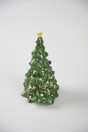 Tabletop Vintage Ceramic Christmas Tree With Ornaments Propcart
