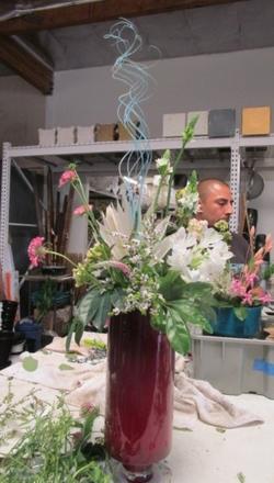 main photo of Fresh Floral 1980's stemmed vase