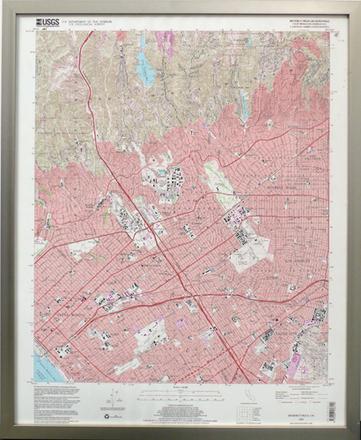 Topo Map, Beverly Hills-California - Pinacoteca Picture Props California Topo Map on