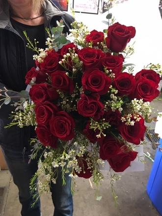 main photo of Fresh Floral Red Rose Prop Bouquet