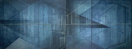 main photo of IRBKEV-Blue Bridges 1 Diptych