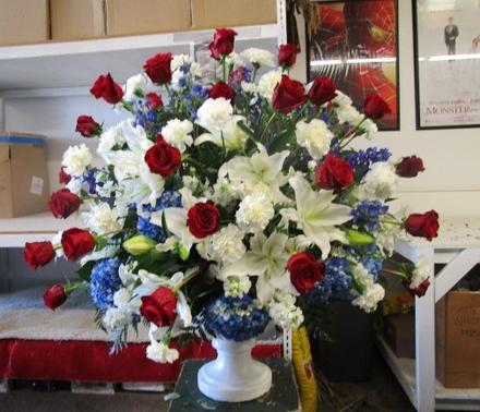 main photo of Fresh Floral Patriotic Funeral