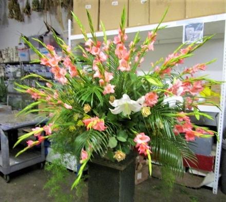 main photo of Fresh Floral Vintage Funeral Arrangement