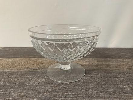 main photo of Glass Hobnail Serving Bowl