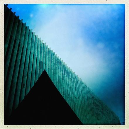 """main photo of RANABB-Black & Blue Abstract 48x48"""""""