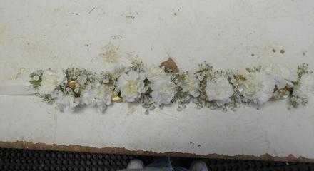 main photo of Mini carnation hair wreath
