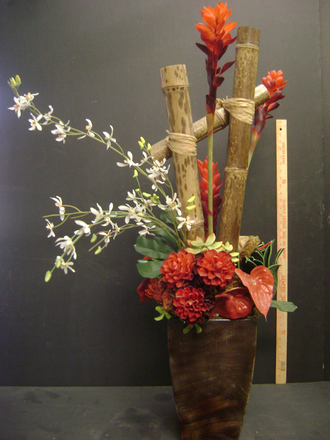 main photo of Bamboo and tropical floral