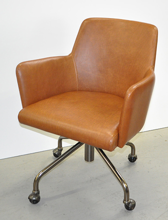 Brilliant Leather Rolling Desk Chair Pinacoteca Picture Props Short Links Chair Design For Home Short Linksinfo
