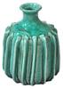Vase Ceramic Blue Crackle Glaze